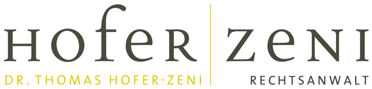 Rechtsanwalt Dr. Thomas Hofer-Zeni